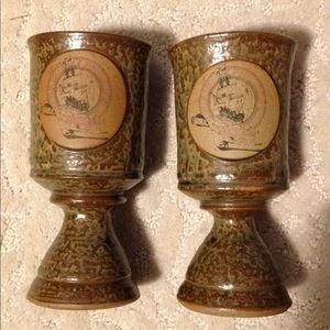 Pair 1992 Michigan Renaissance Festival Goblet